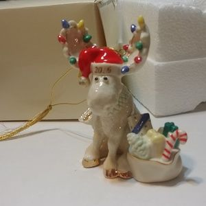 2006 Lenox Merry Mooseclaus holiday ornament